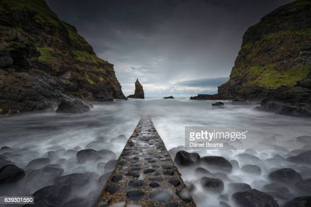 Port Coon Jetty, Giant's Causeway, County Antrim, Ulster, Northern Ireland, Europe