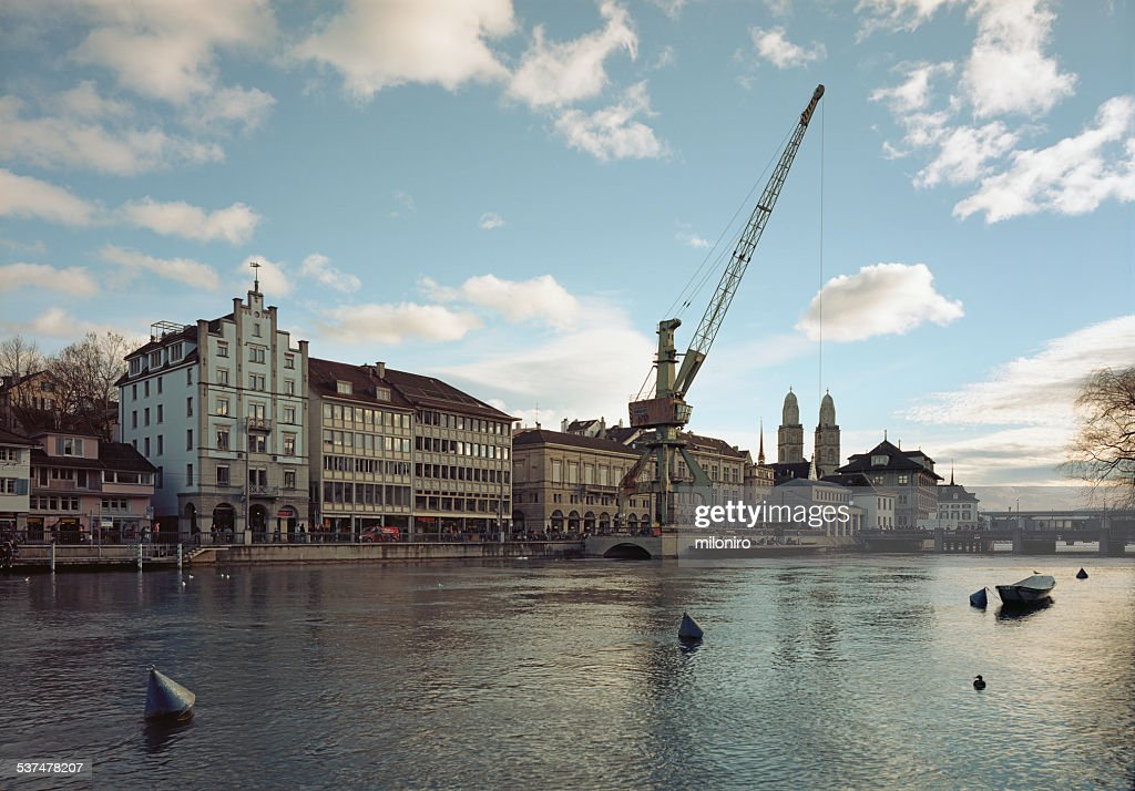Port crane, Zurich : Stock-Foto