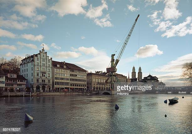port crane, zurich - miloniro stock pictures, royalty-free photos & images