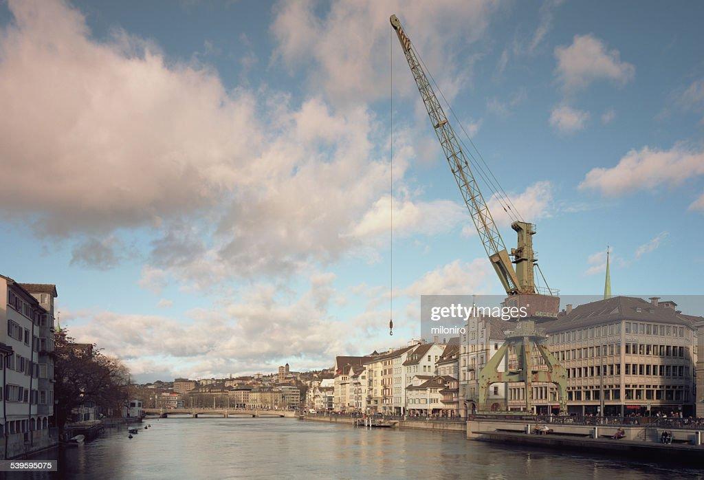 Port crane Zurich : Stock-Foto