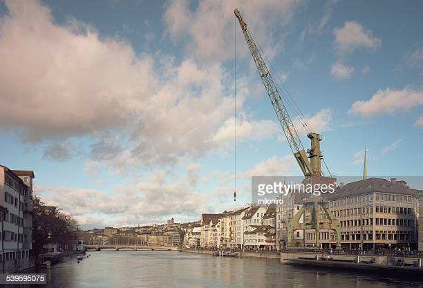 port crane zurich - miloniro stock pictures, royalty-free photos & images