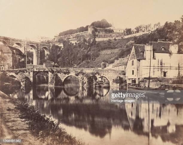 Port de Dinan, Brittany, 1856. Artist WA Mansell.