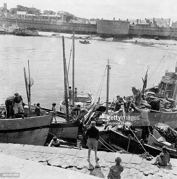 Port de pêche à Athènes Grèce en juin 1964