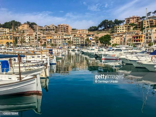 port de soller - balearic islands stock pictures, royalty-free photos & images