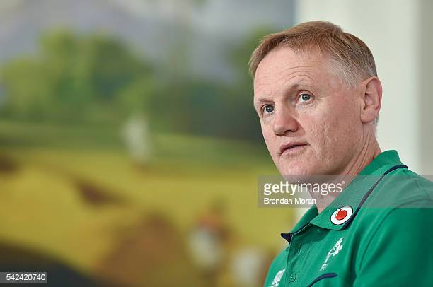 Port Elizabeth South Africa 23 June 2016 Ireland head coach Joe Schmidt during the team announcement press conference at the Boardwalk Hotel Port...