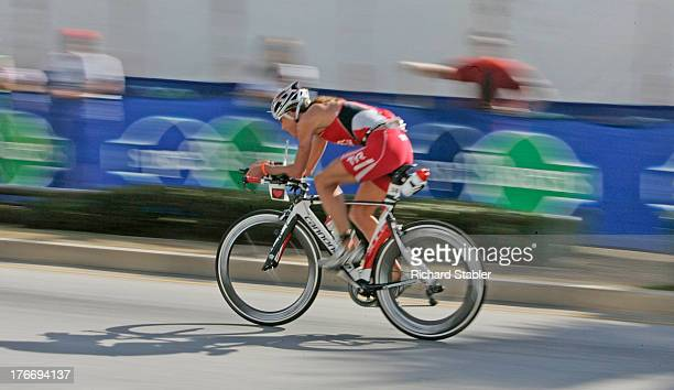 Port Elizabeth, South Africa - April 10th 2011: Chrissie Wellington MBE competes on the 180km bike leg of Ironman South Africa 2011.Chrissie...