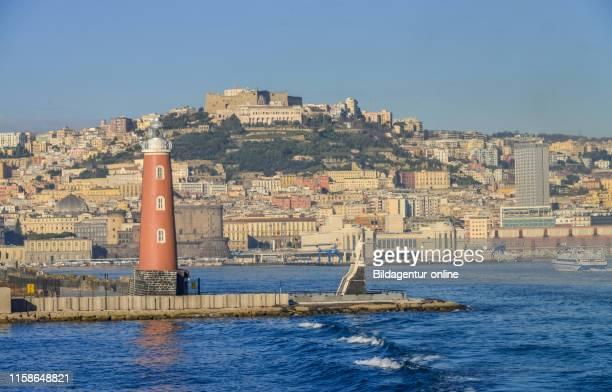 Port entrance, Naples, Italy, Hafeneinfahrt, Neapel, Italien.