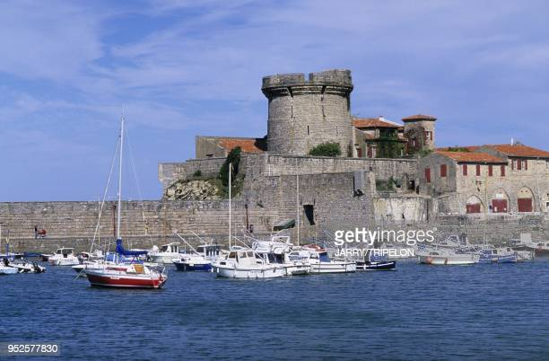 port et fort de Socoa Ciboure Pays Basque departement PyreneesAtlantique region Aquitaine France harbour and fort Socoa Ciboure Pays Basque...
