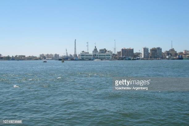 port fuad skylines, egypt - argenberg stock pictures, royalty-free photos & images