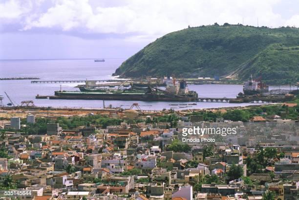 Port in Visakhapatnam, Andhra Pradesh, India.