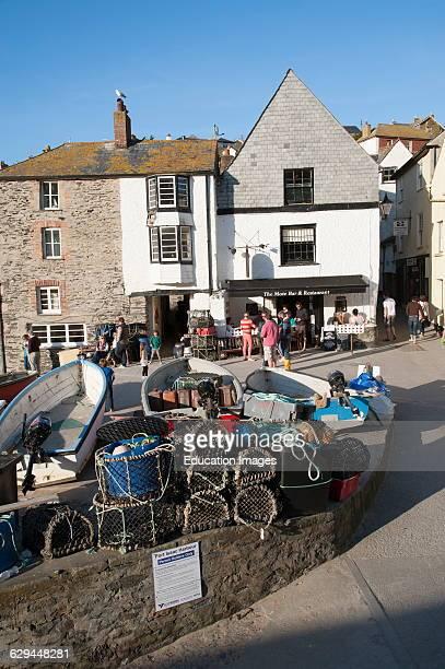 Port Isaac a Cornish fishing village. Cornwall England UK.