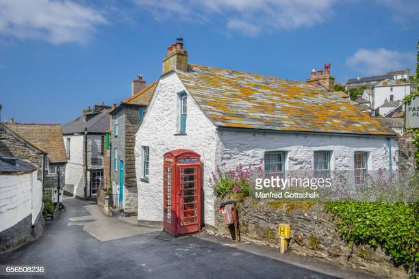 port isaac cornish fishermen's cottage - area designer label stock pictures, royalty-free photos & images