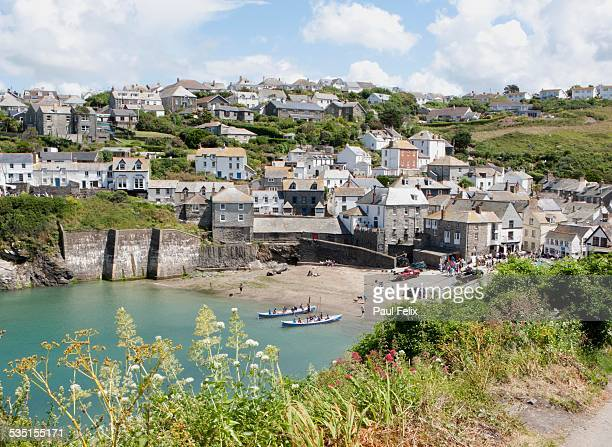 port isaac or port wenn - port isaac stock pictures, royalty-free photos & images