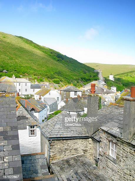 port isaac summer. - port isaac stock pictures, royalty-free photos & images