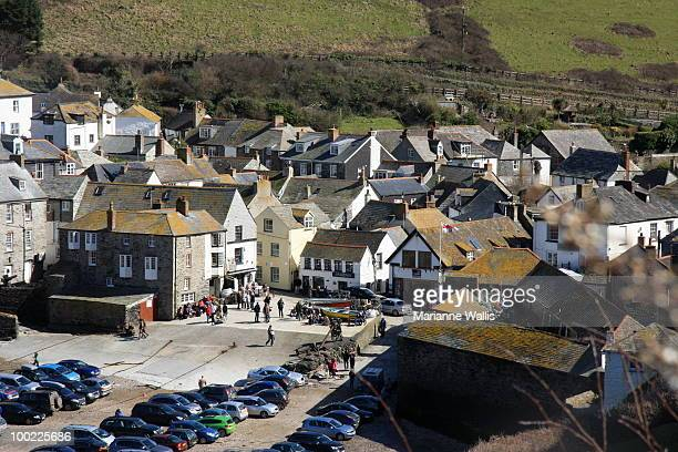 port isaac view, cornwall, england - port isaac stock pictures, royalty-free photos & images