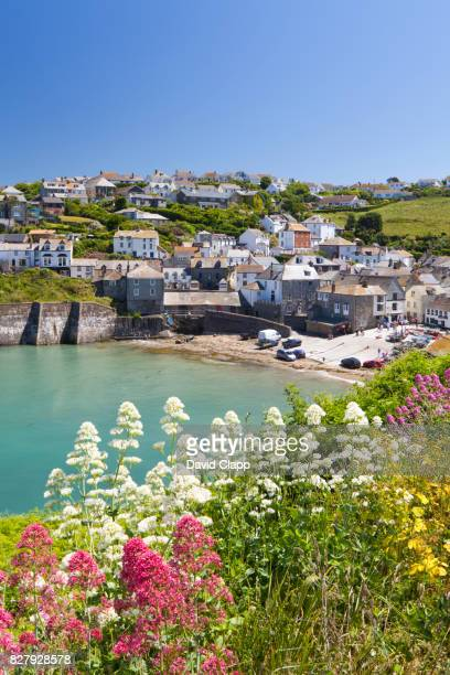 port issac, cornwall, england - port isaac stock pictures, royalty-free photos & images