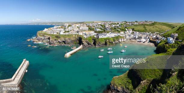 port issac, cornwall, england - david cliff stock pictures, royalty-free photos & images