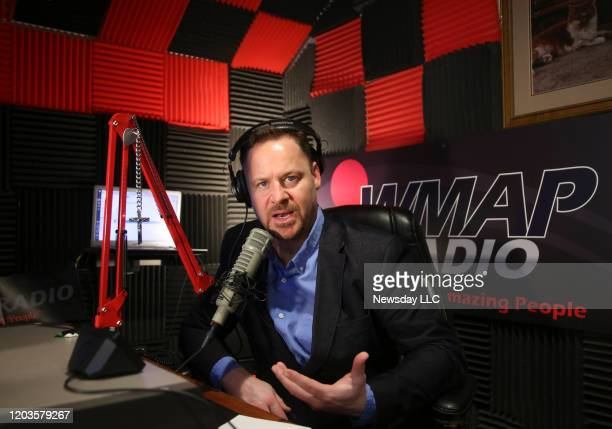 Radio talk show host K.C. Armstrong is shown in the WMAP radio studio in Port Jefferson on Thursday, Jamuary 16, 2020. Armstrong, a former member of...
