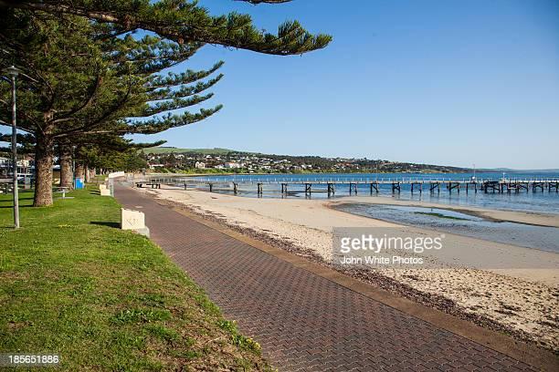 port lincoln front beach. south australia - porto lincoln - fotografias e filmes do acervo