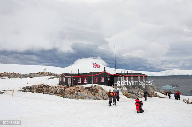 port lockroy - houses in antarctica stock pictures, royalty-free photos & images