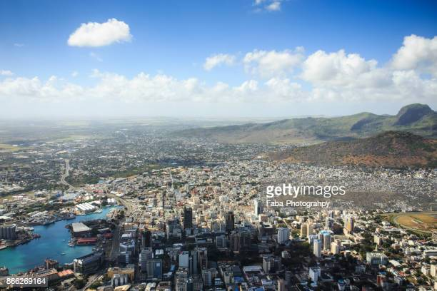 port louis capital of mauritius - port louis stock photos and pictures