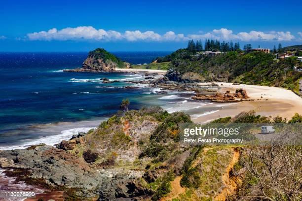 port macquarie coastline road - port macquarie stock pictures, royalty-free photos & images