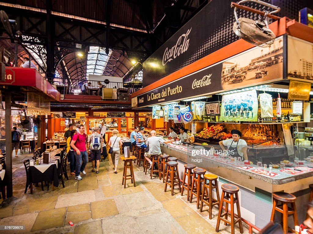 Mercado Del Puerto In Montevideo Uruguay Stock Photo