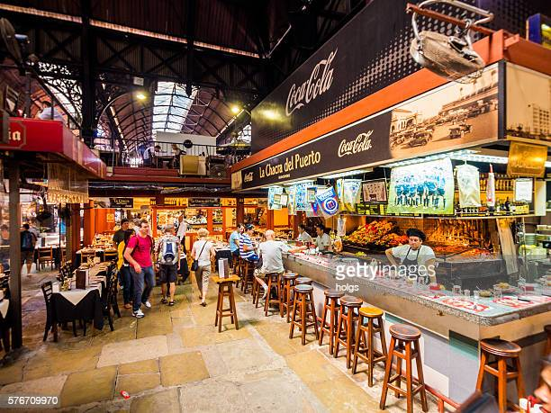 mercado del puerto in montevideo, uruguay - montevideo stock pictures, royalty-free photos & images