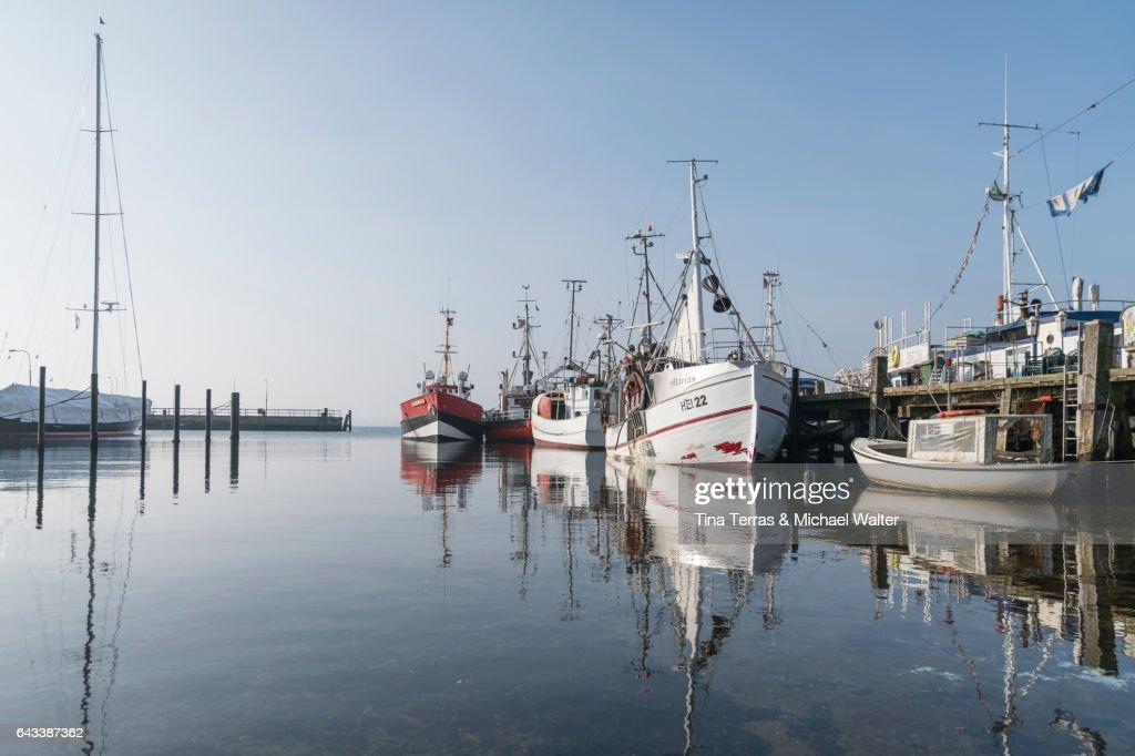 Port Möltenort, Schleswig-Holstein, Germany : ストックフォト