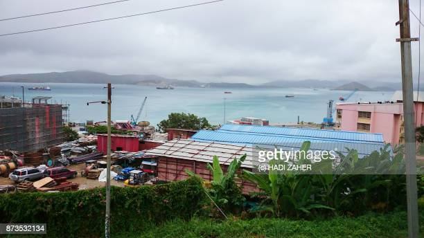 port moresby harbour | papua new guinea - port moresby stock pictures, royalty-free photos & images