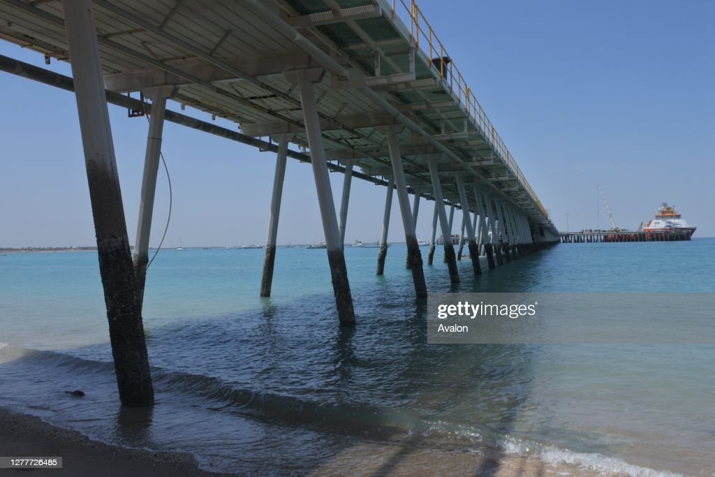 Port of Broome Jetty Pier. Kimberley Ports Authority supports livestock export. : News Photo