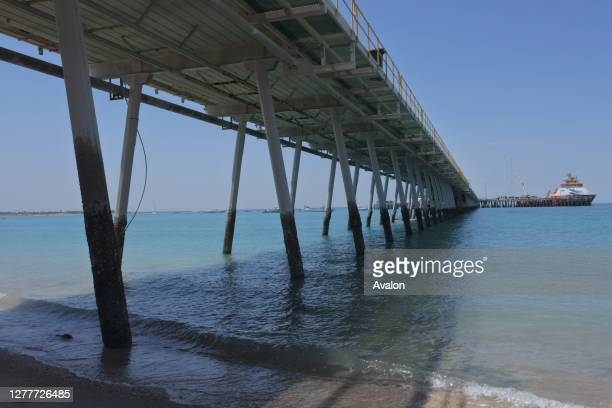 Port of Broome Jetty Pier. Kimberley Ports Authority supports livestock export.
