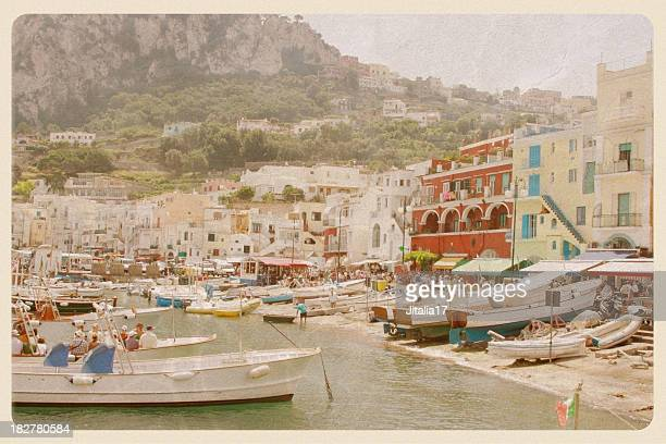 Port of Capri, Italy - VIntage Postcard
