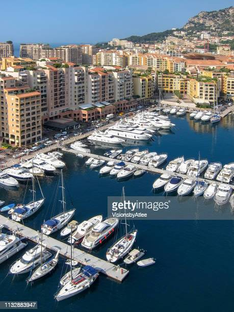 port of fontvieille-monte carlo in monaco - monte carlo stock pictures, royalty-free photos & images