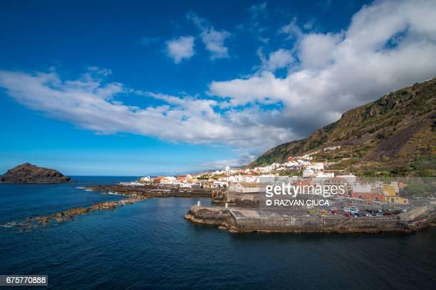 port of garachico - tenerife stockfoto's en -beelden