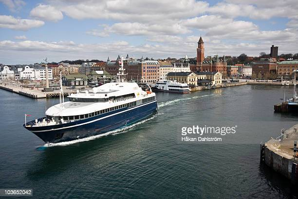 port of helsingborg - helsingborg stock pictures, royalty-free photos & images