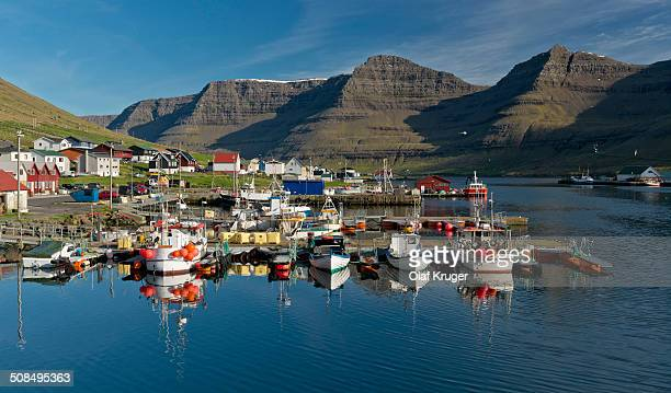 Port of Hvannasund, Viooy, Faroe Islands, Denmark