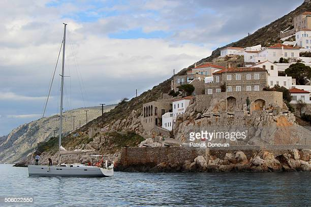 port of hydra, greece - hydra greece photos stock pictures, royalty-free photos & images