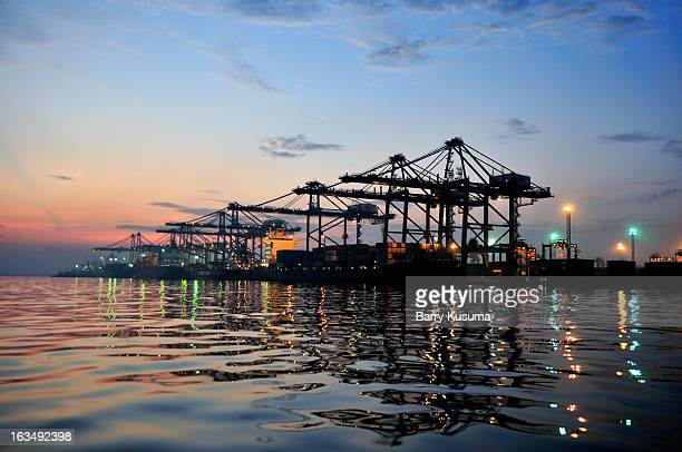 port of jakarta - barry crane stock photos and pictures