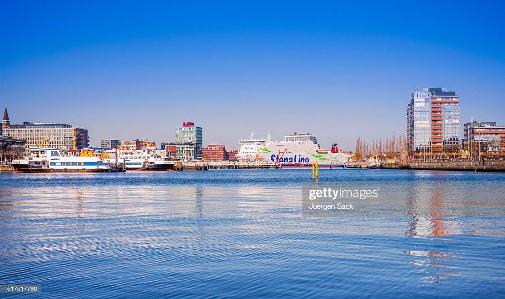 Port of Kiel, Schleswig-Holstein (Germany) : Stock Photo