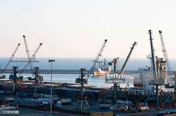 Port of Latakia and Mediterranean Sea in Syria