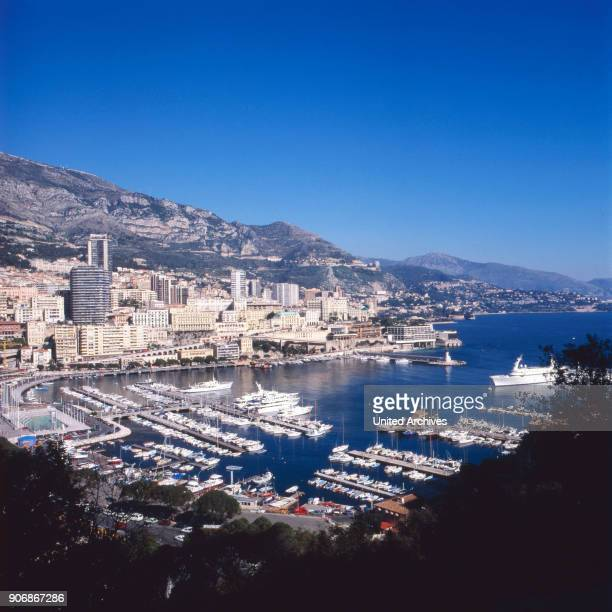 Port of Monte Carlo in Monaco 1970s