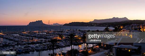 port of moraira, spain - calpe stock pictures, royalty-free photos & images