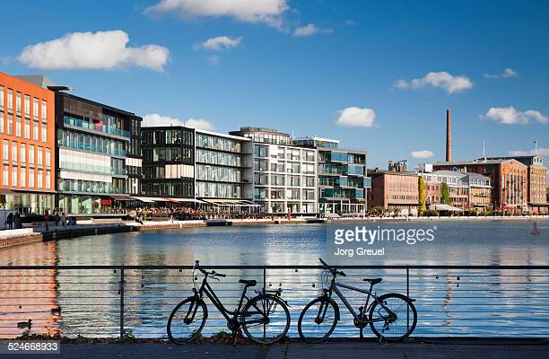 port of muenster - north rhine westphalia stock pictures, royalty-free photos & images