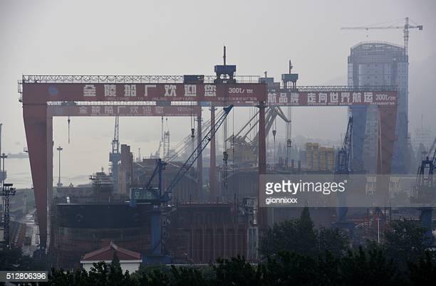 Port of Nanjing on Yangtze River, China