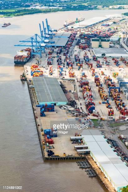ニューオリンズ港航空写真 - ルイジアナ州 ストックフォトと画像