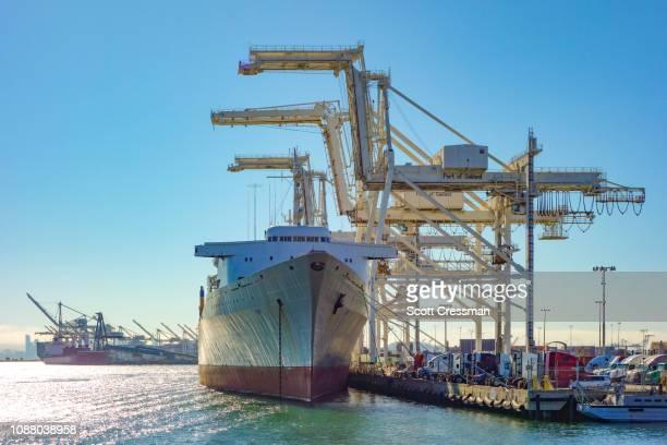 porto de oakland, califórnia - oakland califórnia - fotografias e filmes do acervo