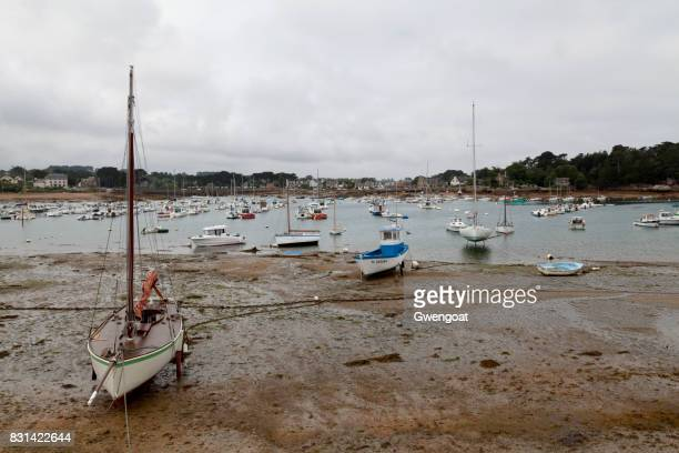 port of perros-guirec - gwengoat stock pictures, royalty-free photos & images