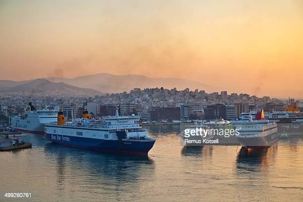 port of piraeus greece - piraeus stock pictures, royalty-free photos & images