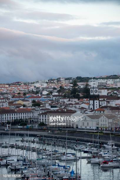port of ponta delgada, azores - ponta delgada stock photos and pictures